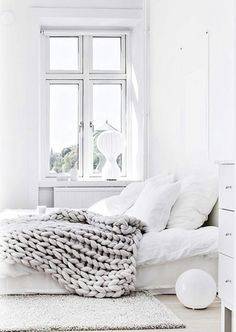 So white and clean. Minimal decor.