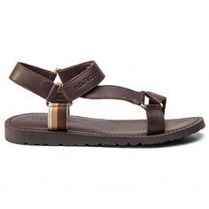 Sandale TOMMY HILFIGER - Strappy Leather Sandal FM0FM02119 Coffee Bean 212 - Sandale - Saboți și sandale - Bărbați - www.epantofi.ro Furla, Coffee Beans, Leather Sandals, Calvin Klein, Shoes, Fashion, Sandals, Moda, Zapatos