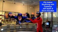 iFly Indoor Skydiving with Cowboys Players Gavin Escobar & Jeff Heath