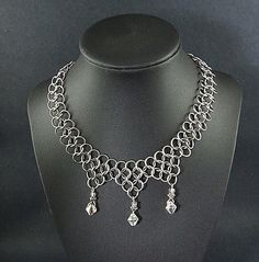 Game-of-Thrones-Chainmail-Necklace-Crystal-Steampunk-Renaissance-Cosplay-SCA