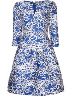 Oscar de la Renta - doily printed dress 6