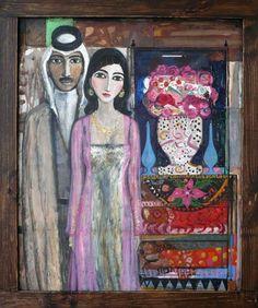 """People from Mesopotamia"" #painting by Ali Al Tajer #arab #art"