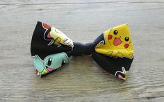 Pokemon, Pikachu, Charmander, Squirtle, Pokemon Bow Tie, Nintendo, Kids Bow Tie, Hairbow, Mens Bow Tie, Toddler Bow Tie, Hair Accessories