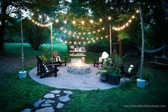 Woo-hoo! The country cottage's circular fire pit patio is finally…