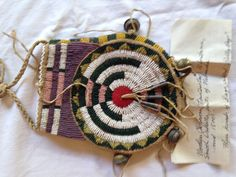 Beautiful beaded pouch in the style of the Tsitsistas People, researched and executed by Hal Barbour
