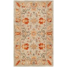 Safavieh Handmade Antiquity Althea Traditional Oriental Wool Rug x - Beige/Multi) Emu, Home Depot, Traditional Area Rugs, Beige Background, Rug Shapes, Throw Rugs, Persian Rug, Beige Area Rugs, Rug Size