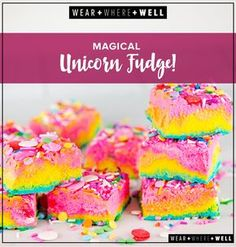 Magical unicorn rainbow fudge!