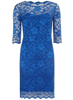 Blue lace dress - $59