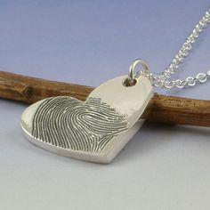 Fingerprint jewelry.  I think this is such a sweet thought!