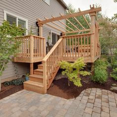 deck...expand landscaping and go across front of deck?