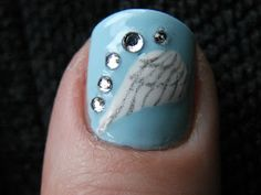 Kawaii Nail Art: Angel Wings