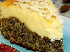 Nuss – Pudding Kuchen Recipe without baking: So easy and fast conjure a cheesecake with delicious strawberry filling Cheese Cake Cookie Recipes, Dessert Recipes, Dessert Diet, Brownie Recipes, Breakfast Recipes, Strawberry Filling, Strawberry Cheesecake, Strawberry Tiramisu, Pudding Cake