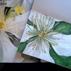 """Цветок клематиса. """"Ботанические портреты"""" Билли Шоуэл меня не скоро отпустят. 🙈🌺 Просто и понятно о сложном и красивом. Восхищает количество рисунков в книге и разжевано  все по пунктам. буду пытаться по мере сил повторять.😍 Цветы маркерами получаются довольно живописно, как мне кажется.😊 Чует моё сердце, это не последняя книга от @miftvorchestvo   #ssc_janelipart"""