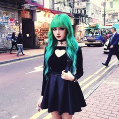 Cute girls with colored hair and different styles (new serie)
