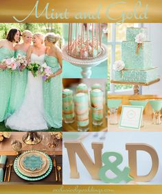 "Mint and Gold Wedding | ""Add Glamour to Your Wedding With Gold"" 