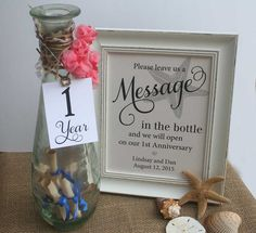 Wedding Guest Book Beach theme and Message In The bottle by RecipeBox on Etsy wedding quotes Items similar to Wedding Guest Book Beach, Message In The Bottle, Beach Wedding, Starfish Background Alternative Guest Book, Table Sign NO Frame on Etsy Beach Wedding Centerpieces, Beach Wedding Reception, Beach Wedding Favors, Wedding Favors For Guests, Unique Wedding Favors, Wedding Themes, Wedding Table, Trendy Wedding, Beach Weddings