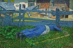 Giovanni Segantini「Riposo all'ombra(Rest in the Shade)」(1892)
