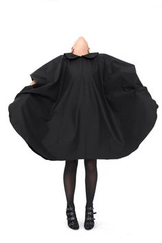 Oversized black dress by Stella and Lori* http://www.etsy.com/listing/98126434/black-dress-elegant-dress-oversized