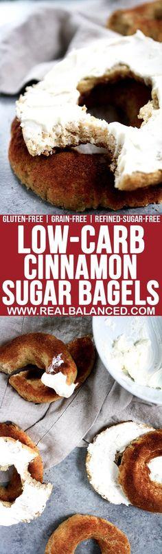 low carb cinnamon sugar bagels