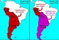 Virreinatos del Perú y Rio de la Plata