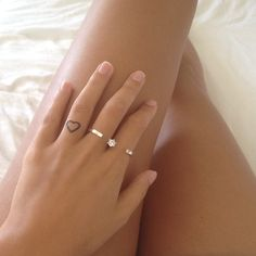Shine on you crazy diamond with skin felings heart temporary tattoo love #andotherstories two finger rings