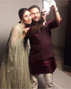 Soon-to-parents Kareena Kapoor and Saif Ali Khan look too ADORABLE in this cute selfie! Kurta Pajama Men, Kurta Men, Boys Kurta, Mens Sherwani, Wedding Sherwani, Mens Indian Wear, Mens Ethnic Wear, Indian Groom Wear, Indian Men Fashion