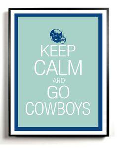 Items similar to Dallas Cowboys Art Print - Keep Calm and Go Cowblys- NFL football - team colors on Etsy Dallas Cowboys Room, Dallas Cowboys Quotes, Dalls Cowboys, Nfl Football Teams, Football Boys, Football Humor, Football Season, Ariana Grande, How Bout Them Cowboys