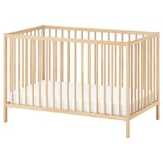 IKEA - SNIGLAR, Cot, beech, The cot base can be placed at two different heights. Your baby will sleep both safely and comfortably as the durable materials in the cot base have been tested to ensure they give their body the support it needs. Ikea Sniglar Crib, Ikea Crib, Ikea Baby Room, Ikea Baby Nursery, Spindle Bed, Faia, Bed Base, Pallet Bedframe, Dorm Rooms