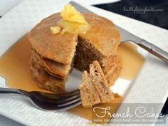 French Cakes...tastes like French toast looks like pancakes! #lowcarb #glutenfree #nutfree #dairyfree #paleo