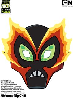 ben 10 masks to print | Ben 10 Ultimate Alien - Downloads