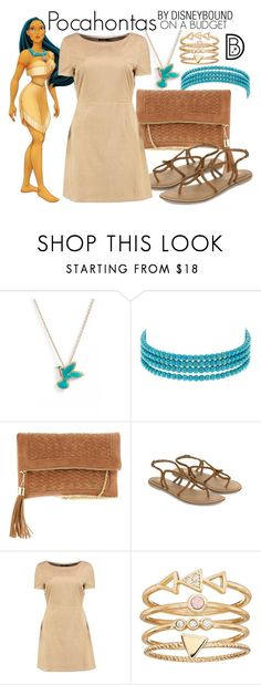 """Pocahontas"" by leslieakay ❤ liked on Polyvore featuring Kate Spade, Kenneth Jay Lane, Disney, Urban Expressions, Accessorize, Boohoo, LC Lauren Conrad, disney, disneybound and disneycharacter"