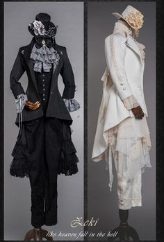 Loki <like heaven fall in the hell> Steampunk Fashion, Victorian Fashion, Gothic Fashion, Concept Clothing, Cool Outfits, Fashion Outfits, Fantasy Dress, Cosplay Outfits, Character Outfits