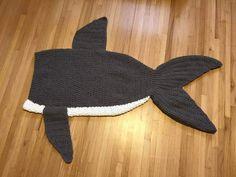 Crochet Pattern for Shark Tail Blanket – Crochet by Jennifer