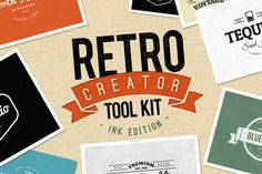 Check out Retro Creator Tool Kit - Ink Edition by Creativenauts on Creative Market