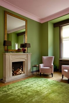 ELLE Decoration – lime green and pink