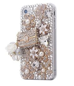 New Handmade 3D Alloy Rhinestone Bags and Camellia Case Cover Skin iPhone 4 4S | eBay