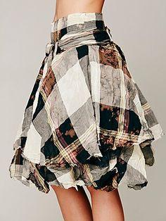 Melanie Plaid Skirt