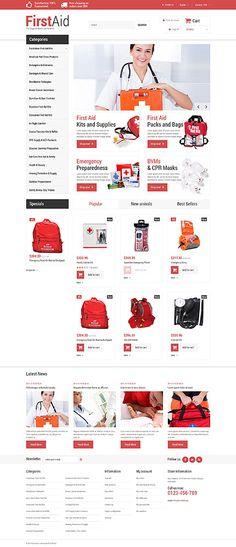 Prestashop Theme für einen Erste-Hilfe-Shop