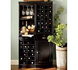modular bar system with 1 wine hutch & 1 open hutch from pottery barn
