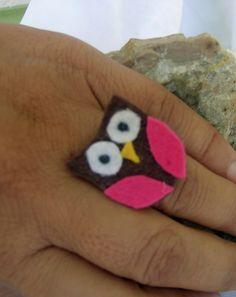 OWL Jewelry - Eule Schmuck  - Baykuş takı  -  For those who want to wear the owl as a ring.... Für diejenigen, die die Eule als Ring tragen  möchten... Baykuş'u yüzük olarak taşımak isteyenler için.