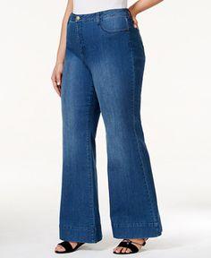 93245a52e08b1 RACHEL Rachel Roy Curvy Plus Size Flared Jeans Plus Sizes - Jeans - Macy s