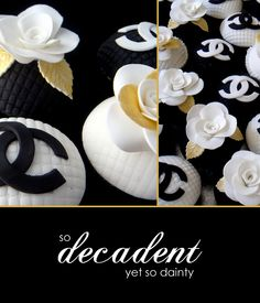 my chic my way: Chanel Inspired Mothers Day Chanel Cupcakes, 32 Birthday, High Tea, Cupcake Cakes, Mothers, Party Ideas, Favorite Recipes, Sweets, Inspired