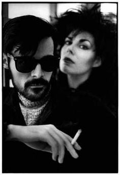 Andrew Eldritch and Patricia Morrison, The Sisters of Mercy circa 1988