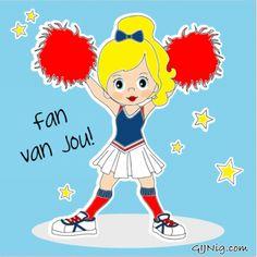 Fan van jou! #GIJNig #illustratie #cheerleader www.facebook.com/gijnig