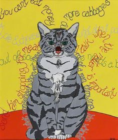 Dez Quarréll - The Talking Cat, 1998 Talking Cat, Art Uk, Your Paintings, Cat Art, Pikachu, Classic, Cat Stuff, Fictional Characters, Animals