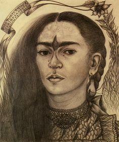 Frida Kahlo. Self-Portrait Dedicated to Marte R. Gomez (Autorretrato Dedicado a Marte R. Gomez). 1946.
