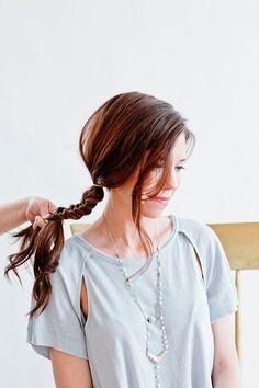 Bobby pin as hair accessory to update a boho fishtail braid - Full Tutorial @beautyhigh