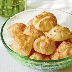They are light-as-air bites; no one can turn down a cheese puff at a party.