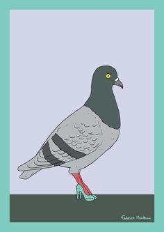 Milano Fashion Pigeon by Federico Monzani