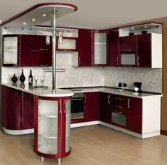 21 Modern Kitchen Area Ideas Every Residence Prepare Needs to See Cabnits Kitchen, Moduler Kitchen, Kitchen Modular, Kitchen Room Design, Modern Kitchen Cabinets, Kitchen Cabinet Design, Modern Kitchen Design, Home Decor Kitchen, Interior Design Kitchen